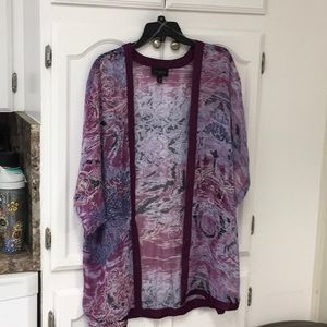 Investment sheer cardigan size 2X
